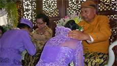 Giving blessing on nephew's wedding