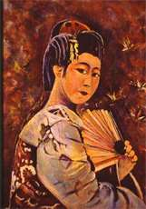 GEISHA'  OIL PAINTING  1998
